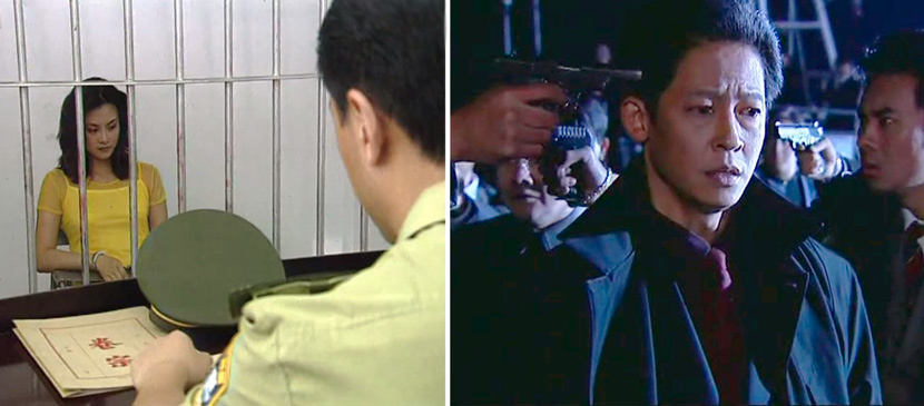 "Still frames from ""Red Spider"" (left) and ""Black Ice."" From Douban"