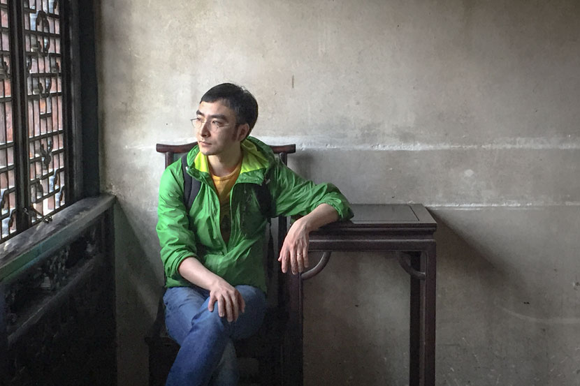 Wang He poses for a photo in Suzhou, Jiangsu province, 2015. Courtesy of Wang He