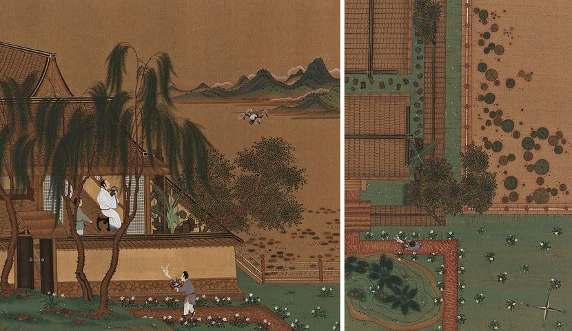 'Watching,' 2017. An ancient Chinese scholar flies a drone. Courtesy of Wang He