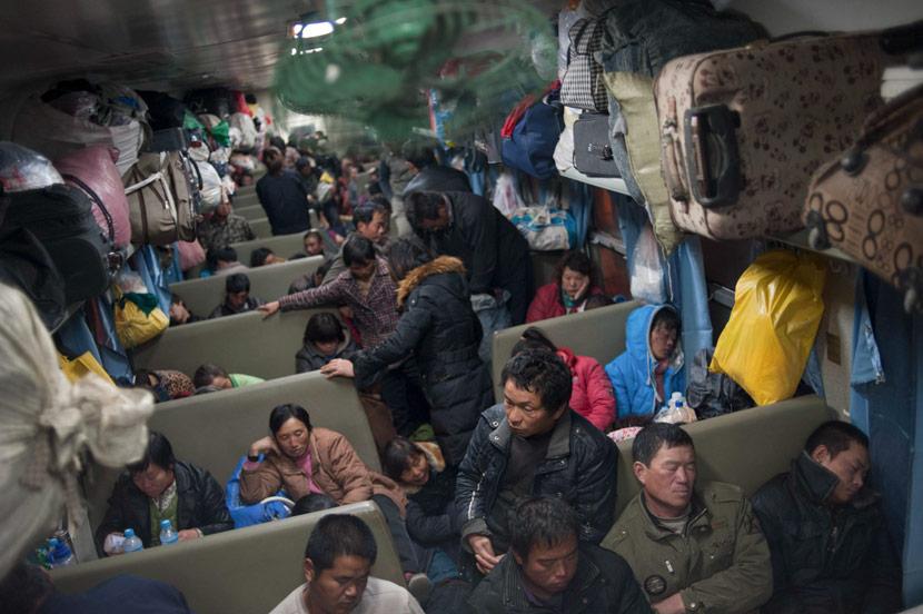 Train L208 from Urumqi to Xuzhou, Nov. 14, 2013. Courtesy of Qian Haifeng