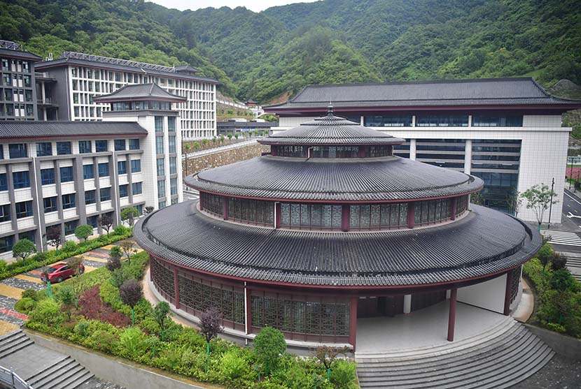 A view of the fancy school in Zhen'an County, Shaanxi province, Aug. 13, 2020. Shao Rui/Xinhua