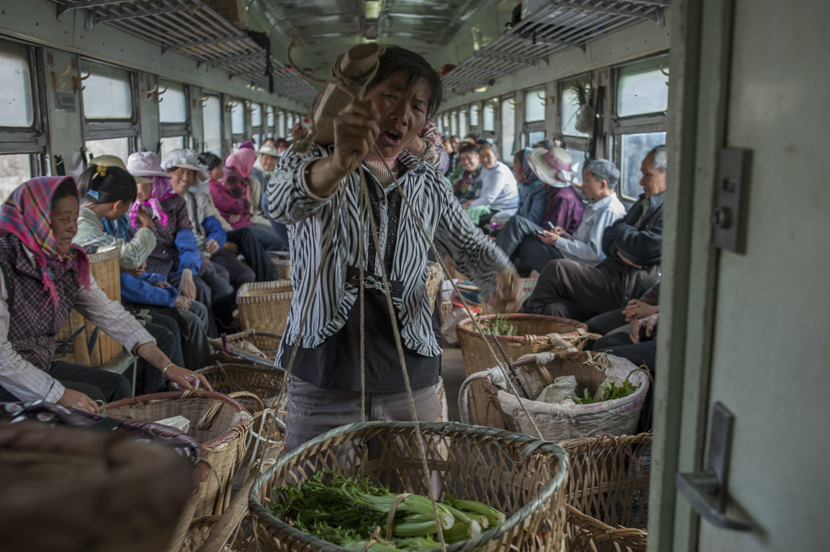 Train 6061 from Liupanshui, Guizhou province to Kunming, Yunan province, Feb. 25, 2014. Courtesy of Qian Haifeng