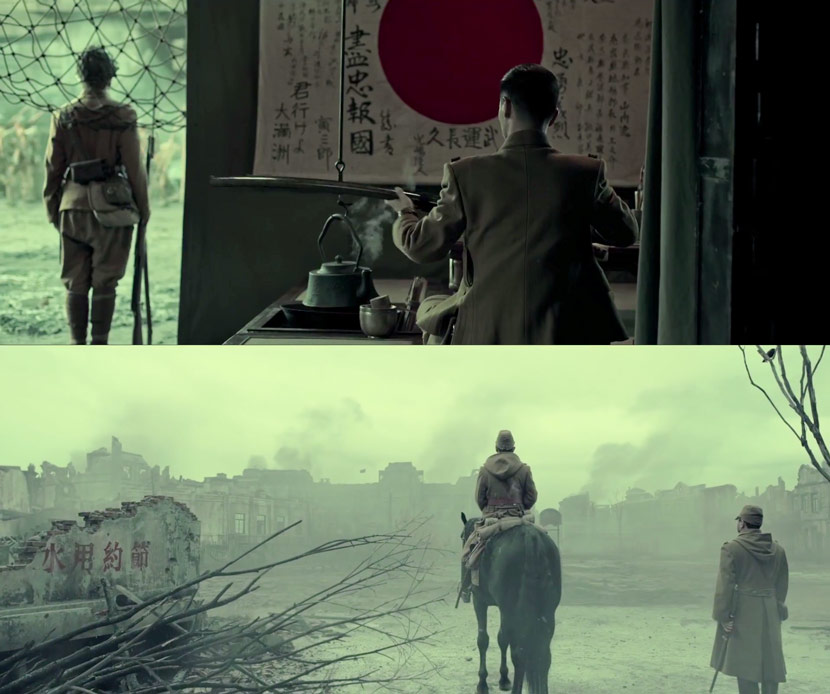 "Stills from 2020 film ""The Eight Hundred."" From Douban"