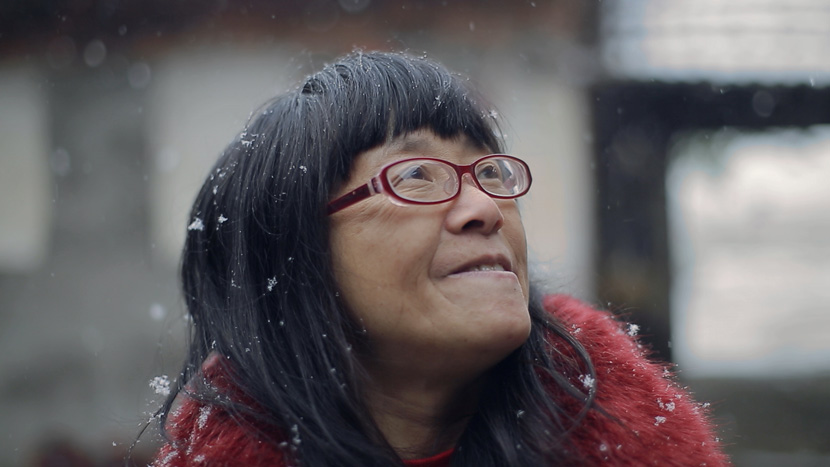 "A still frame from the 2016 documentary ""Still Tomorrow"" about Yu Xiuhua, a Chinese poet with cerebral palsy. From Douban"