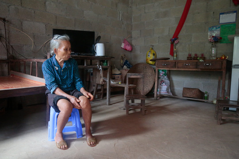 Nong Feijun's mother is pictured at her home in Longzhou County, Guangxi Zhuang Autonomous Region, Aug. 24, 2020. Li You/Sixth Tone