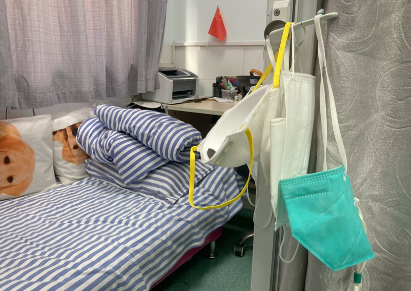 A view of Zhang Xiaochun's recovery room at Zhongnan Hospital of Wuhan University, Hubei province, August 2020. Wang Yiwei/The Intellectual