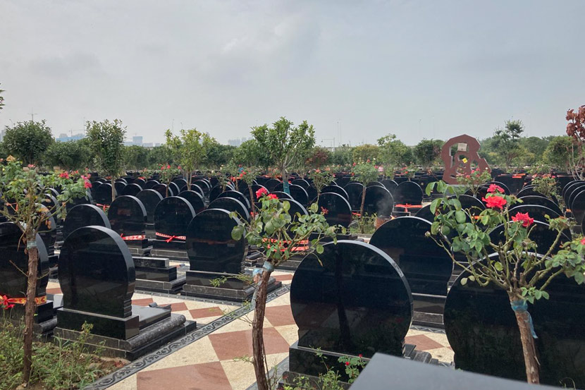 A view of the Biandan Mountain Cemetery, where many of the people who died during the coronavirus outbreak are buried, Wuhan, Hubei province, August 2020. Wang Yiwei/The Intellectual