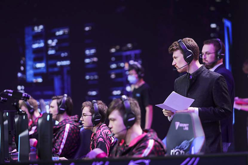 Esports athletes compete during the League of Legends World Championship in Shanghai, Sept. 26, 2020. Courtesy of Riot Games