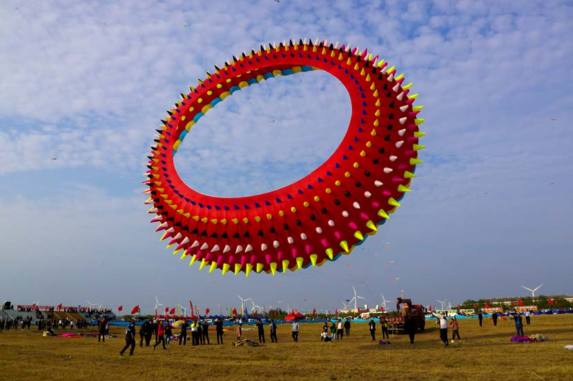 A view from a kite festival in Rudong County, Jiangsu province, Oct. 17, 2020. People Visual