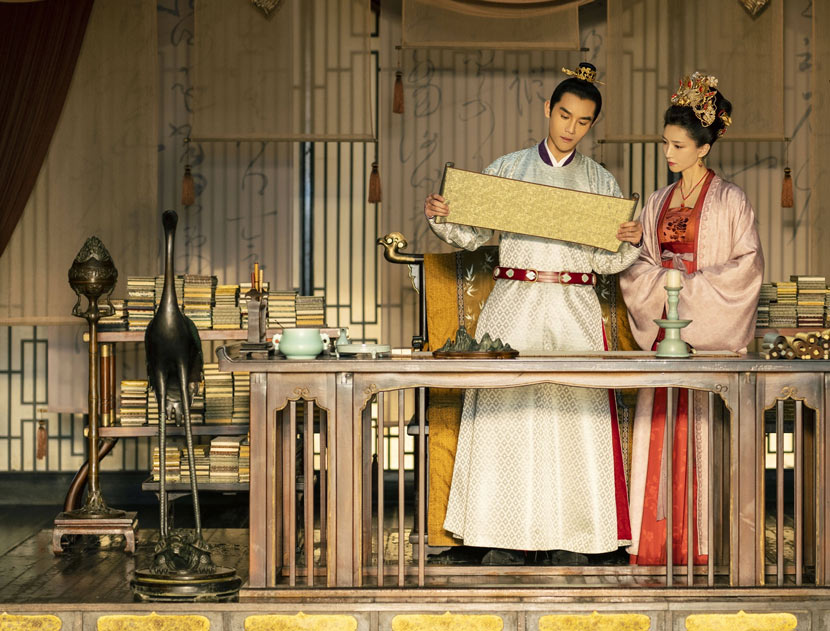 "A still from the 45-episode TV series ""Serenade of Peaceful Joy."" From Douban"