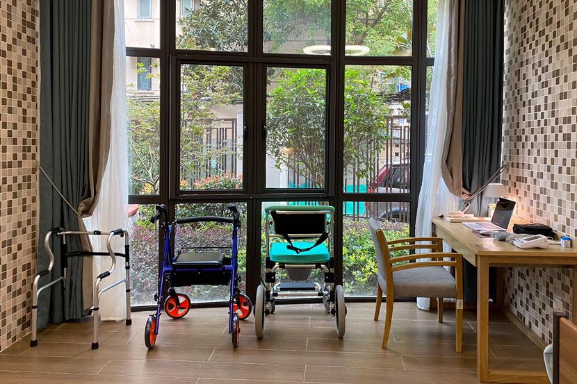 An interior view of the Huayang Integrated Elder Care Center in Shanghai, Oct. 20, 2020. Fan Yiying/Sixth Tone
