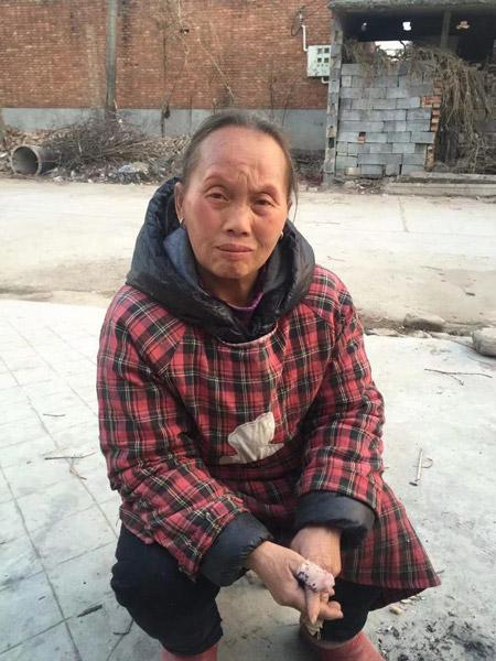 The photo of Li Xinmei's mother sent to Huang Defeng. Courtesy of Li Xinmei