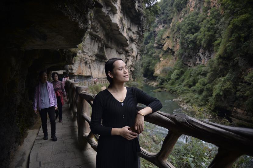Li Xinmei in Xingyi, Guizhou province, Oct. 27, 2020. Stephen Che/Guyu