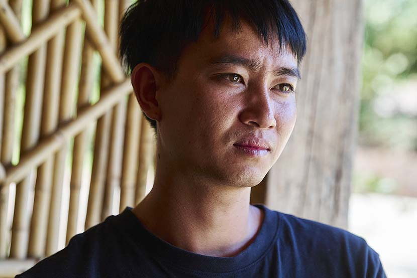 Zhou Zhixue, head of the village's cooperative, poses for a photo, Hebian Village, Yunnan province, Nov. 1, 2020. Wu Huiyuan/Sixth Tone