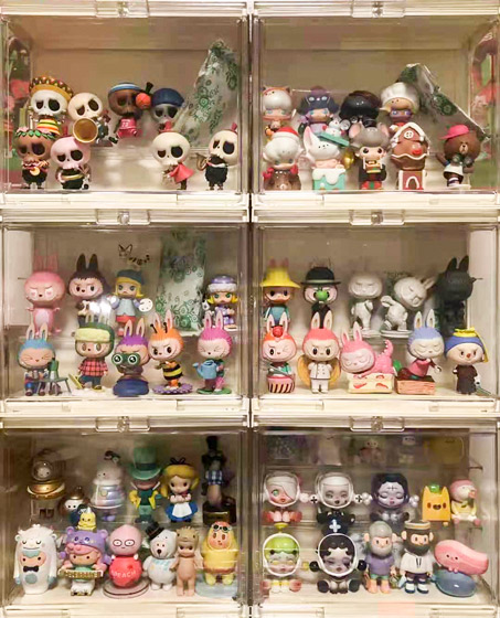 Li Weihui's collection of blind boxes. Courtesy of Li Weihui