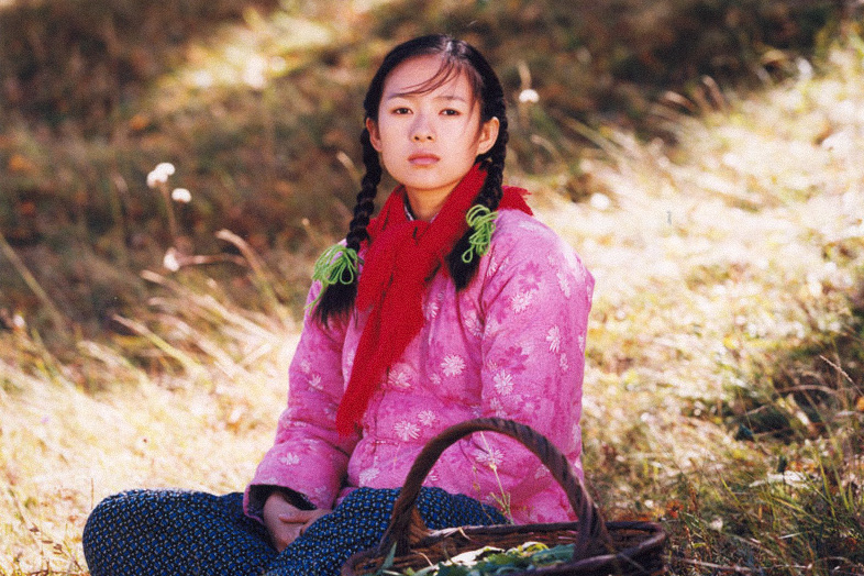 "A still frame from the 1999 film ""The Road Home"" showing the main character, ""Zhaodi."" From Douban"