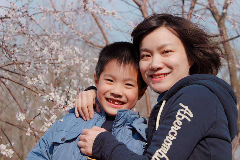 A photo of Amber Jiang and her son. Courtesy of Amber Jiang