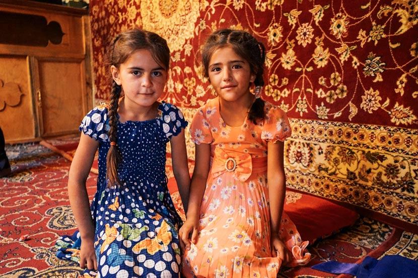 Local children pose for a photo in Langar Village, Tajikistan, July 2018. Courtesy of Liu Zichao