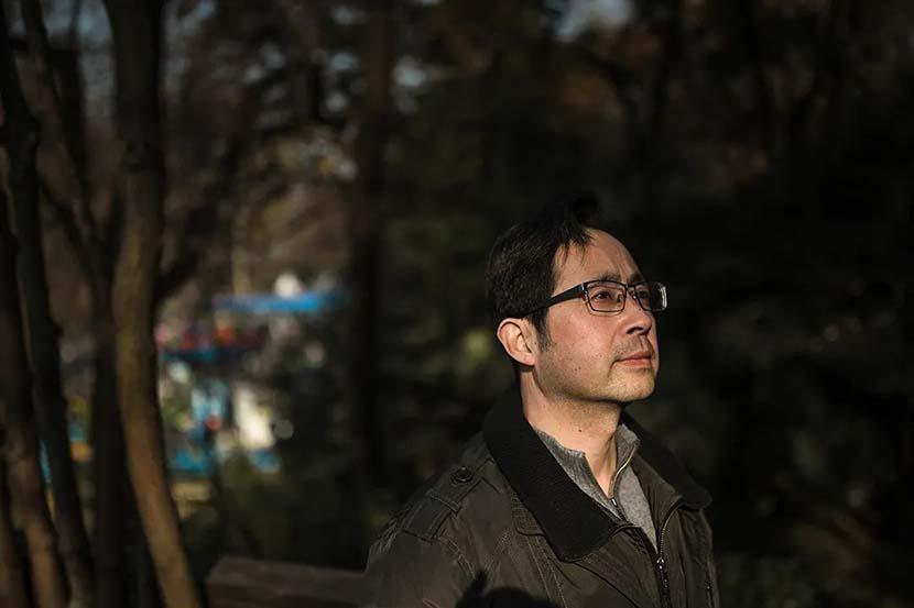 Shen Zhijun poses for a photo at Hongshan Forest Zoo in Nanjiang, Jiangsu province, 2020. Courtesy of Guyu Lab