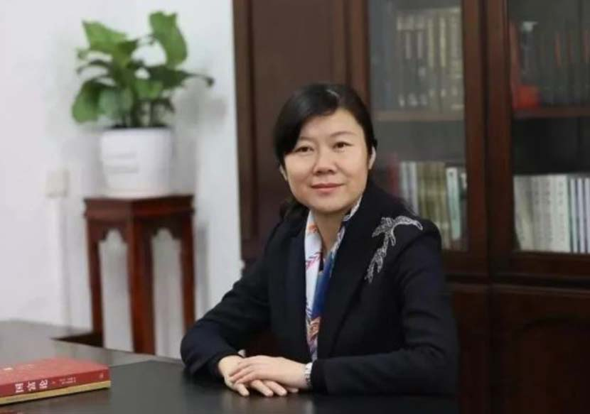 A portrait of Wang Li, chief engineer and quality officer at Kweichow Moutai. From Weibo