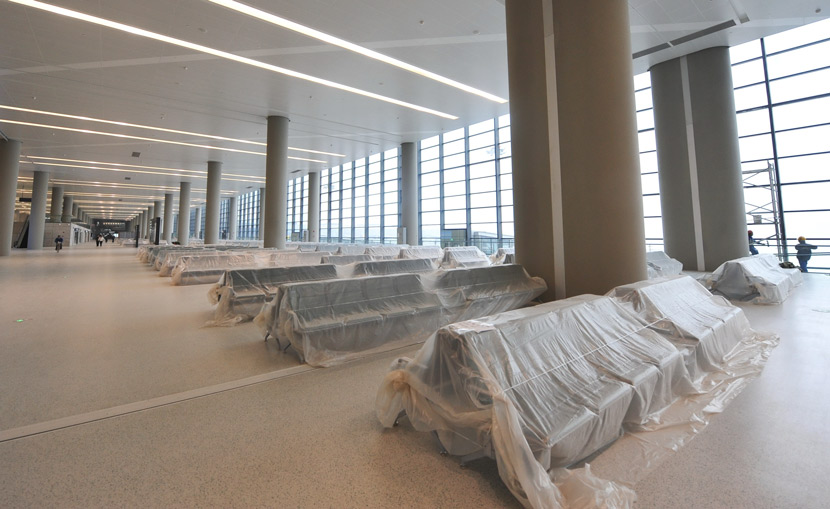 A view of the newly built Terminal 2 at Shanghai Hongqiao Airport, Dec. 24, 2019. IC