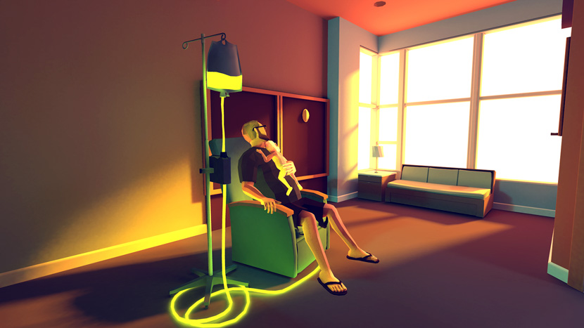 A still from the video game That Dragon, Cancer. From the game's website