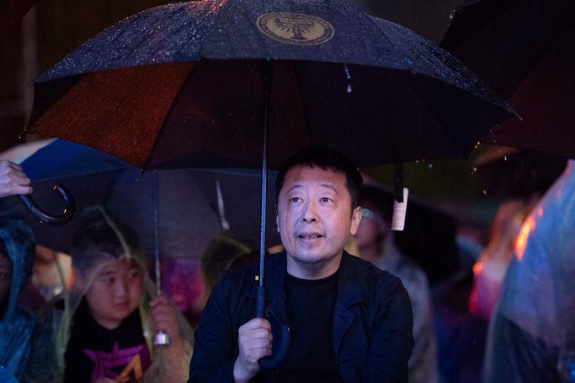 Director Jia Zhangke at an event in Fenyang, Shanxi province, 2020. Hu Yuguang/IC