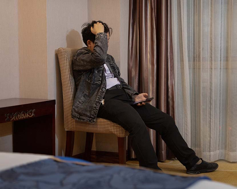 Sisi during her interview at the hotel in Dongguan, Guangdong province, March 4, 2021. Jiang Yanmei for Sixth Tone