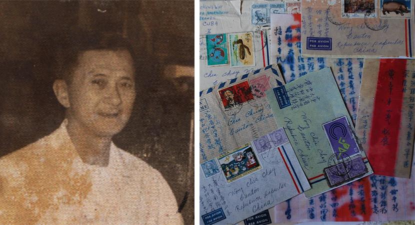 Left: Huang Baoshi in 1965; Right: Letters from Huang Baoshi. Courtesy of Huang Zhuocai