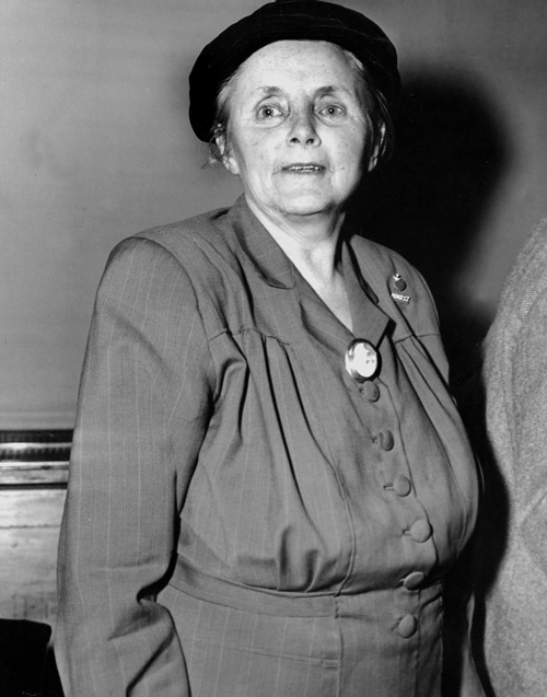 Anna Louise Strong in Federal Court, U.S., 1949.  Art Whittaker/New York Daily News Archive via People Visual