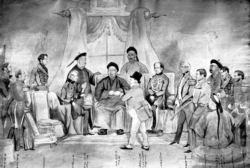 A painting of Keying's visit to Hong Kong, November 1845. From Hong Kong's Public Records Office