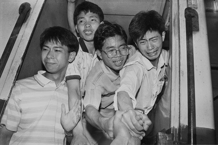 1996: I held my classmates' hands and said goodbye to them.