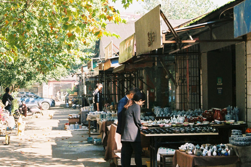 A view of a ceramics market in Jingdezhen, Jiangxi province, Oct. 21, 2020. Courtesy of Liu Ruoxi