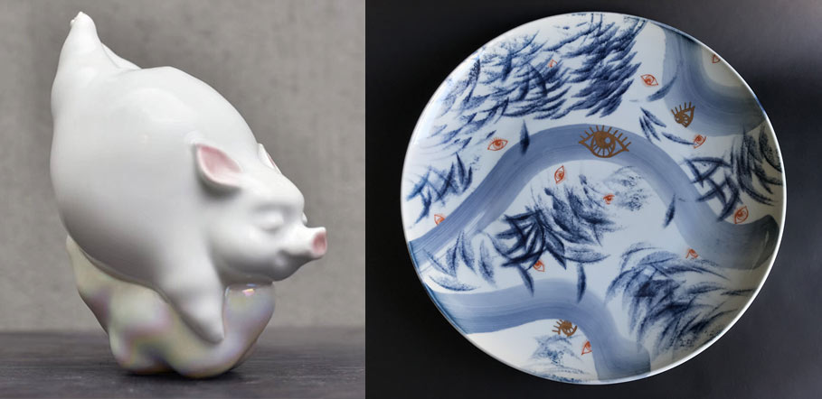 Ceramic products made by young Jingdezhen artists. From the website of Taoxichuan Ceramic Art Avenue