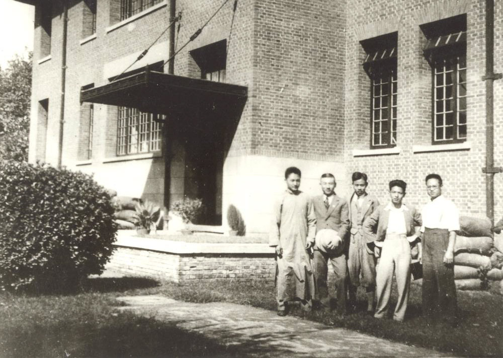 Students from Nankai University pose for a photo on the campus of Changsha Temporary University, 1937. From Archives Bureau of Nankai University