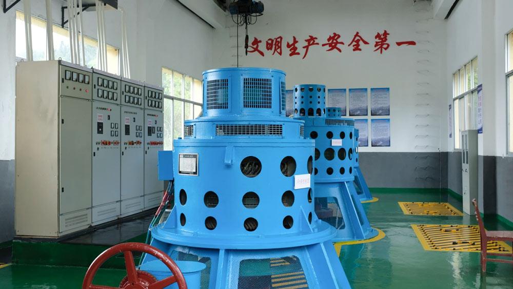 An interior view of Hongsha Hydropower Station in Liuyang, Hunan province, 2021. Diao Fanchao for Sixth Tone