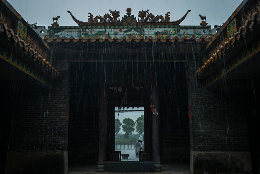 A view of the Zhong ancestral hall, which is sponsored by villagers surnamed Zhong in Qixin Village, Guangzhou, Guangdong province, July 19, 2017. Wu Yue/Sixth Tone