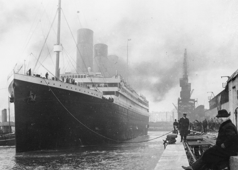 A photo of the Titanic from 'Titanic: The Artifact Exhibition' in Turin, Italy, March 9, 2017. EPA/IC