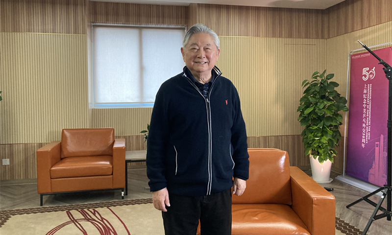 Xu Yinsheng poses for a photo at the International Table Tennis Federation Museum in Shanghai, April 27, 2021. Courtesy of Huang Lanlan
