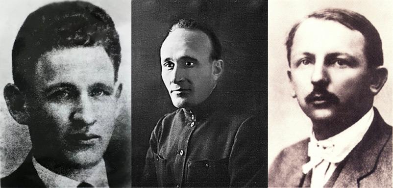 From left to right, Grigori Voitinsky, Vladimir Neiman-Nikolsky, and Henk Sneevliet. Courtesy of the Shanghai Jewish Refugees Museum