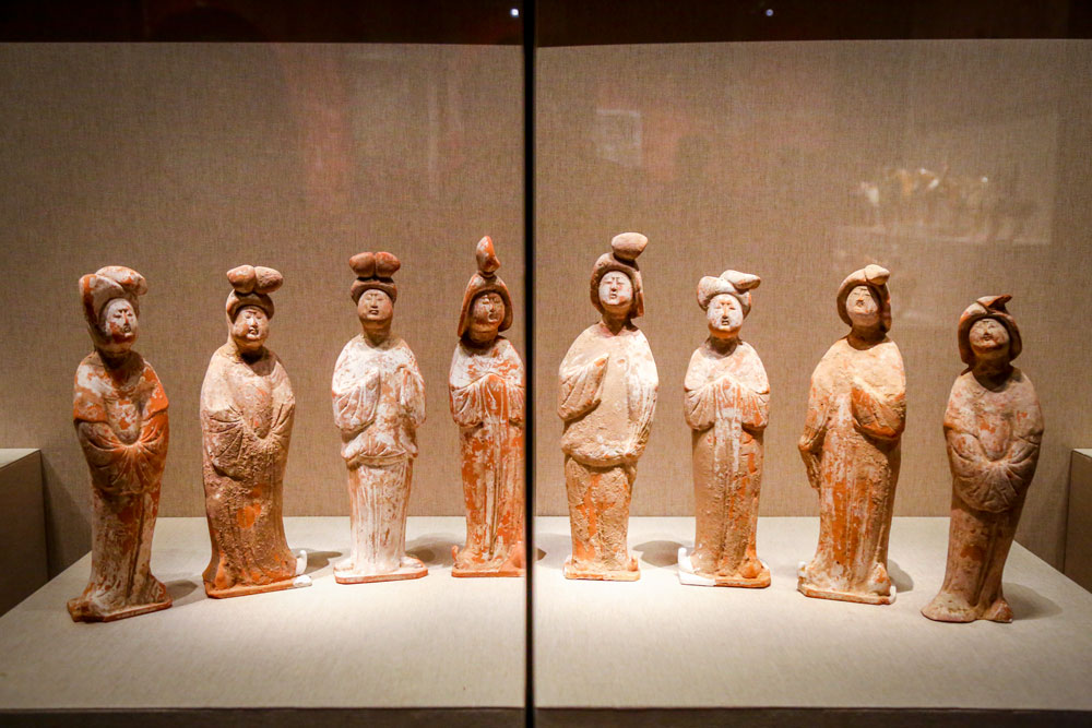 Relics from the Tang Dynasty (618-907) on display at the Henan Museum in Zhengzhou, Henan province, Feb. 18, 2021. People Visual