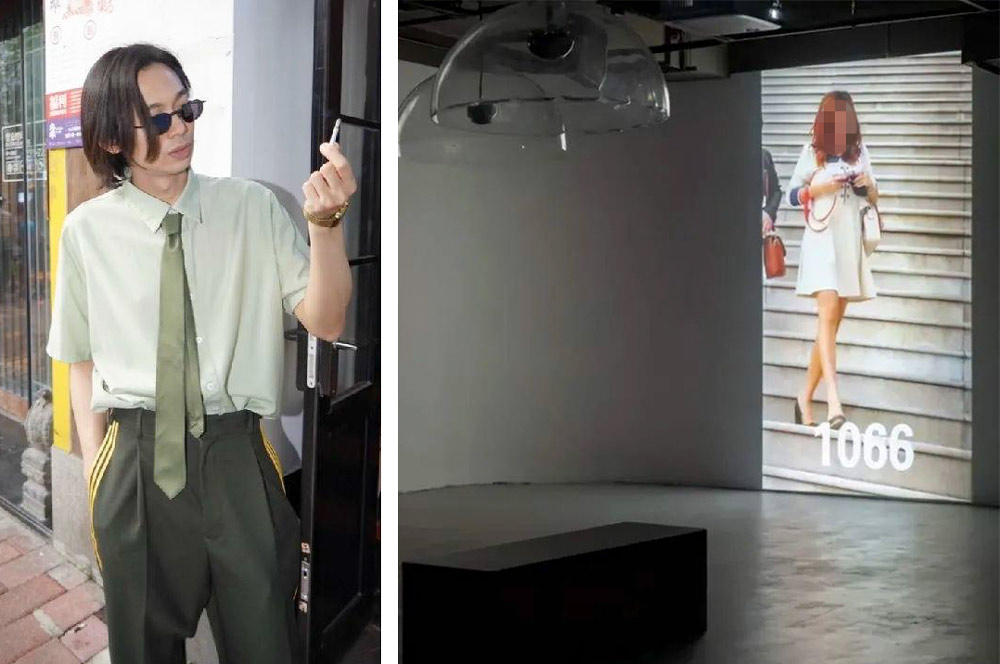 Left: Song Ta; Right: A view of Song's since-suspended exhibiton at OCAT Shanghai. From Art-Ba-Ba
