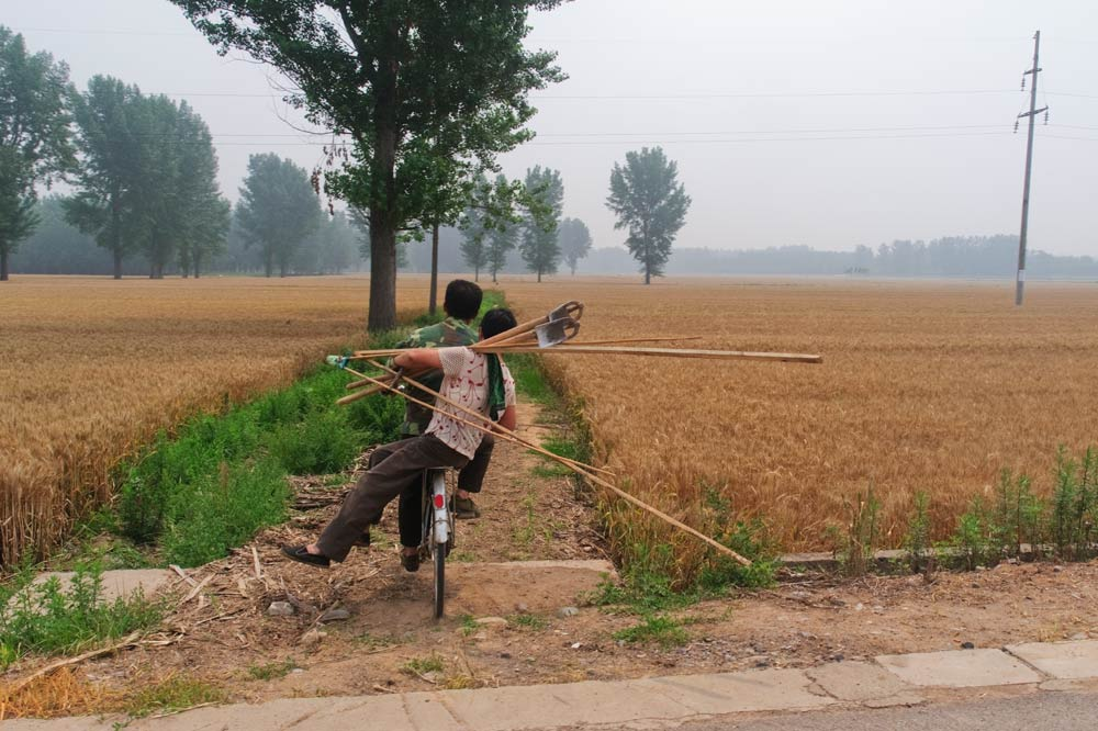 A couple on their way to their field in Luoyang, Henan province, 2010. Lü Guangwei/People Visual