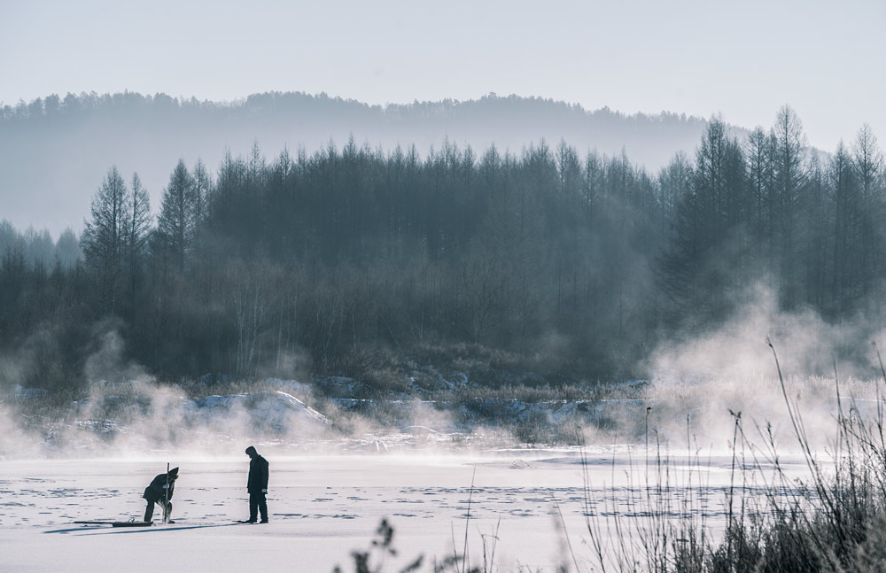 """A still from the 2020 film """"Anima"""" shows the landscape of Moerdaoga Mountain Forest Park, Inner Mongolia Autonomous Region. Courtesy of Cao Jinling"""