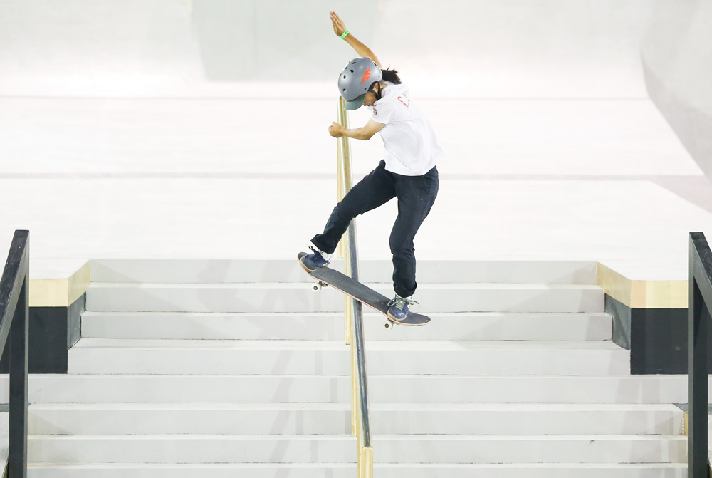 Zeng Wenhui competes at the WS/SLS World Championship in Sao Paulo, Brazil, Sept. 20, 2019. Alexandre Schneider via People Visual