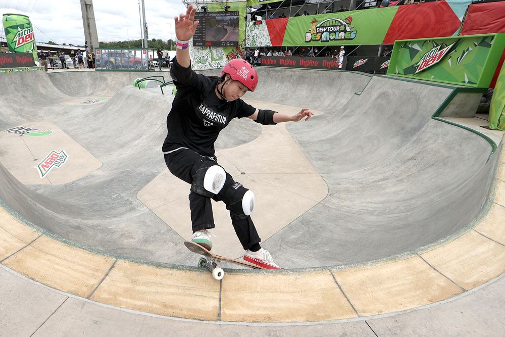 Zhang Xin competes in the women's park open qualifier at the 2021 Dew Tour in Des Moines, Iowa, U.S., May 20, 2021. Sean M. Haffey via People Visual