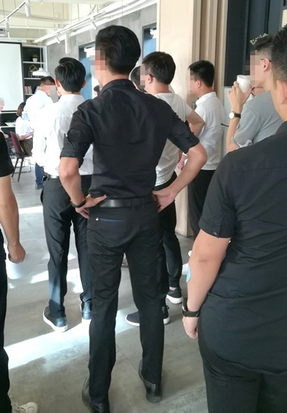 Trainees take part in a class. Courtesy of Liu Haiping