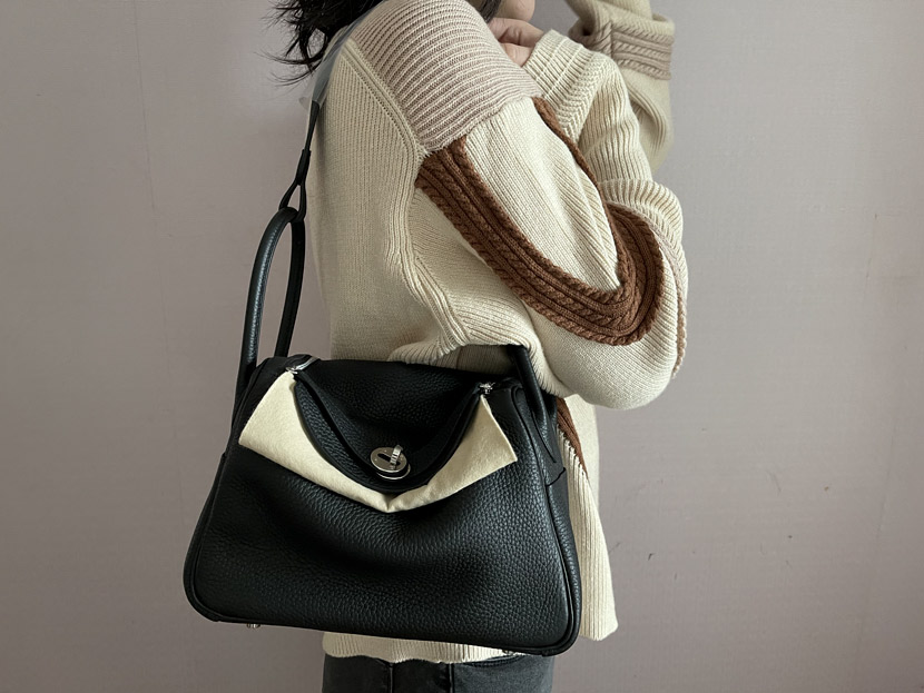 Chen Shuyu carries one of her Hermès bags, which was bought by a friend living overseas earlier this year, 2021. Courtesy of Chen Shuyu