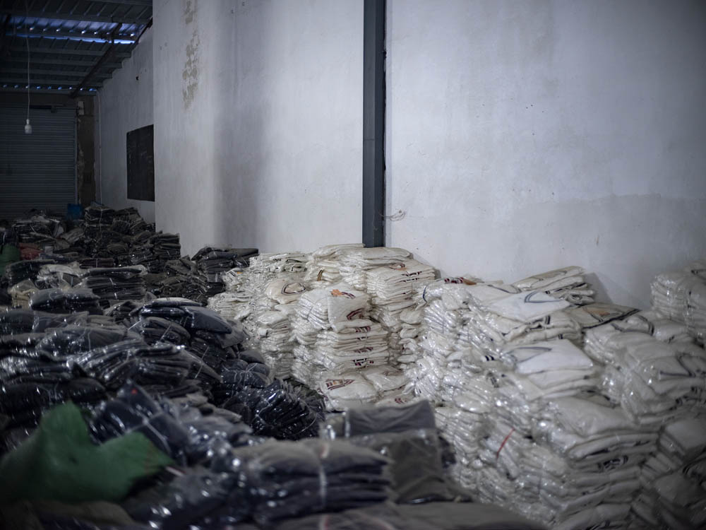 Stock in the factory of Plus Ten, June 2021. Courtesy of Lü Meng