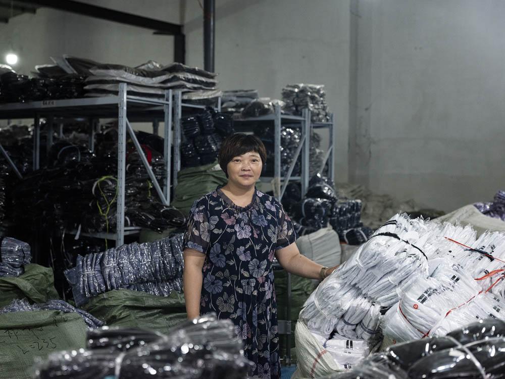 Ten Plus boss Xiang Jingyan inside her factory, June 2021. Courtesy of Lü Meng